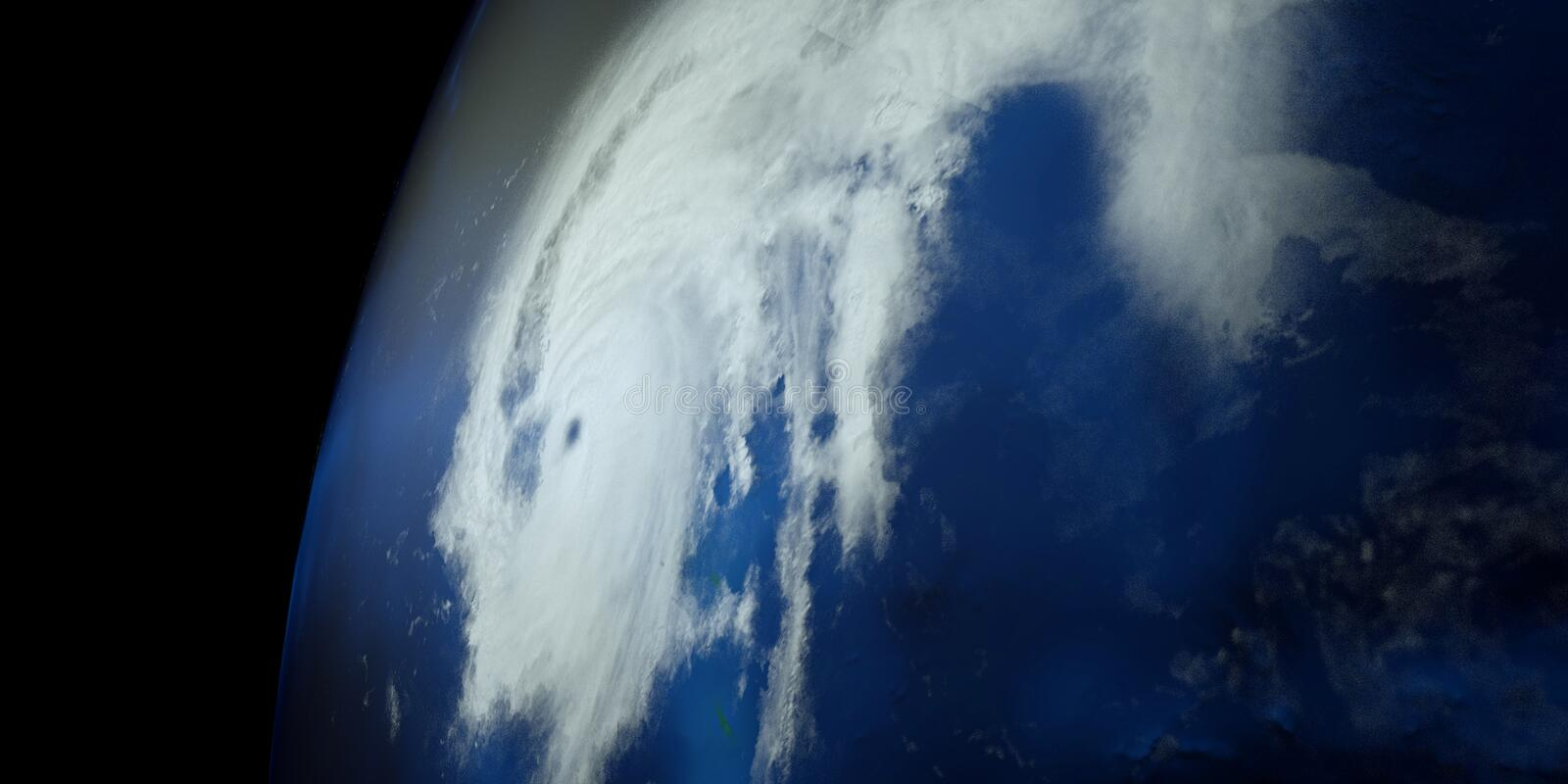Extremely detailed and realistic high resolution 3D illustration of a Hurricane. Shot from Space. Elements of this image are furni. Extremely detailed and stock images