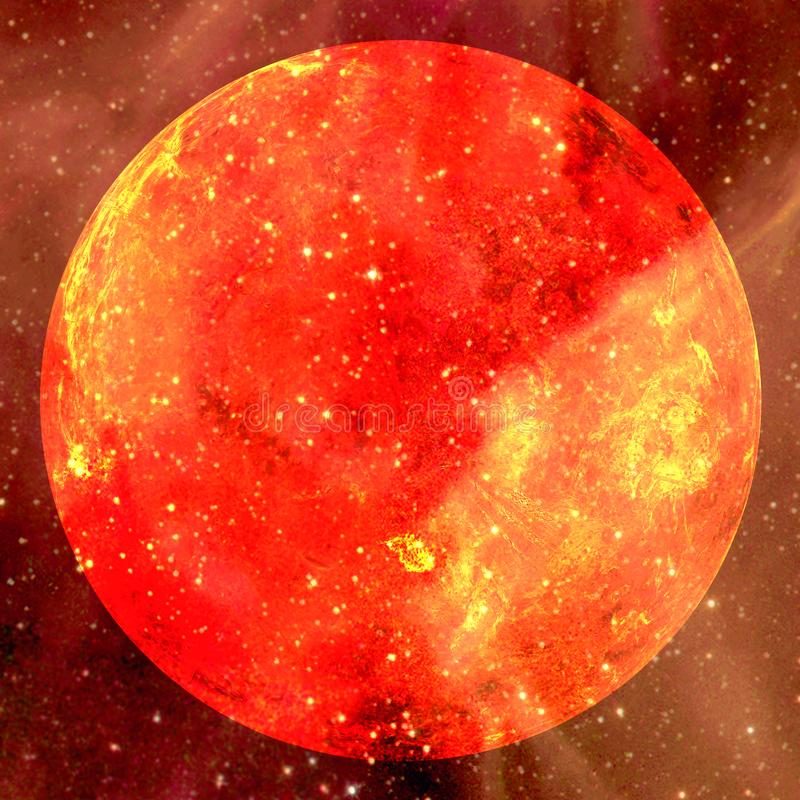 Extremely hot star. Flaring of Sun. Elements of this image furnished by NASA. Extremely hot star. Flaring of Sun. Beauty of endless universe. Elements of this royalty free stock images