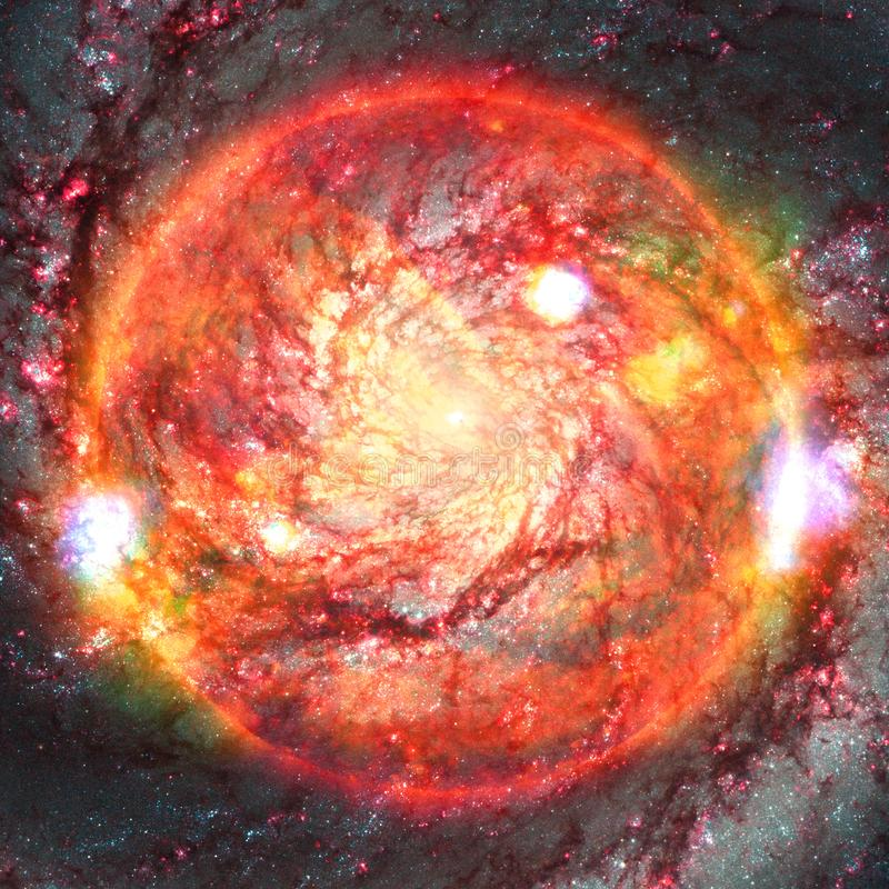 Extremely hot star. Flaring of Sun. Elements of this image furnished by NASA. Extremely hot star. Flaring of Sun. Beauty of endless universe. Elements of this stock image