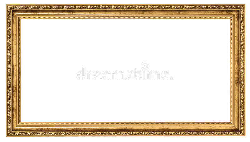 Extremely long golden frame stock photography