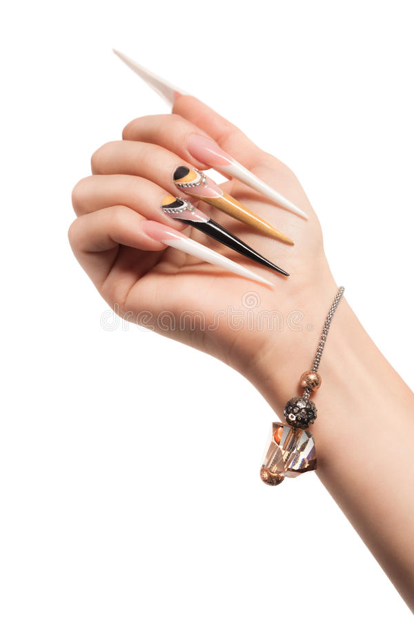 Extremely long nails stock photo. Image of finger, colorful - 36706136