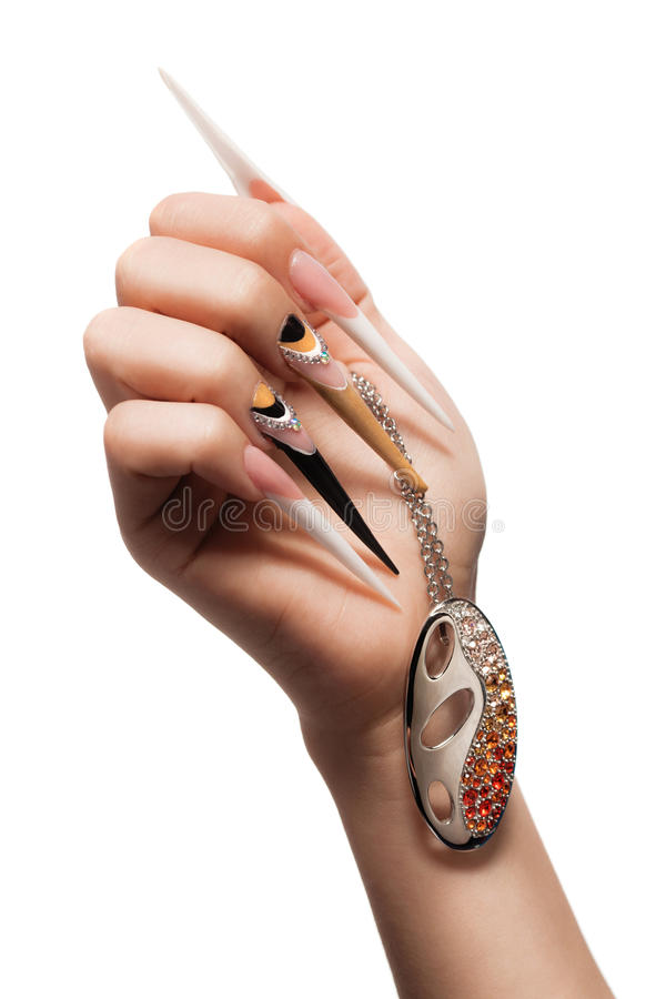 Extremely long nails stock photo. Image of lacquer, fingernail ...