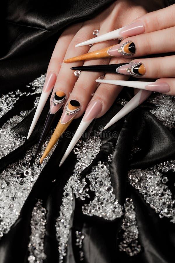 Extremely long nails stock photo. Image of artwork, female - 36706150
