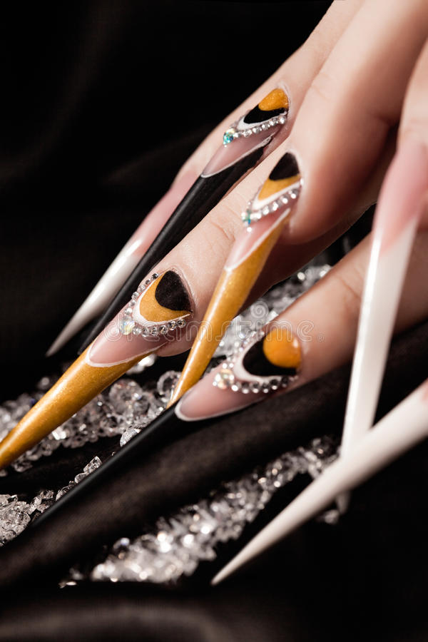 Extremely long nails stock image. Image of lacquer, long - 36706153
