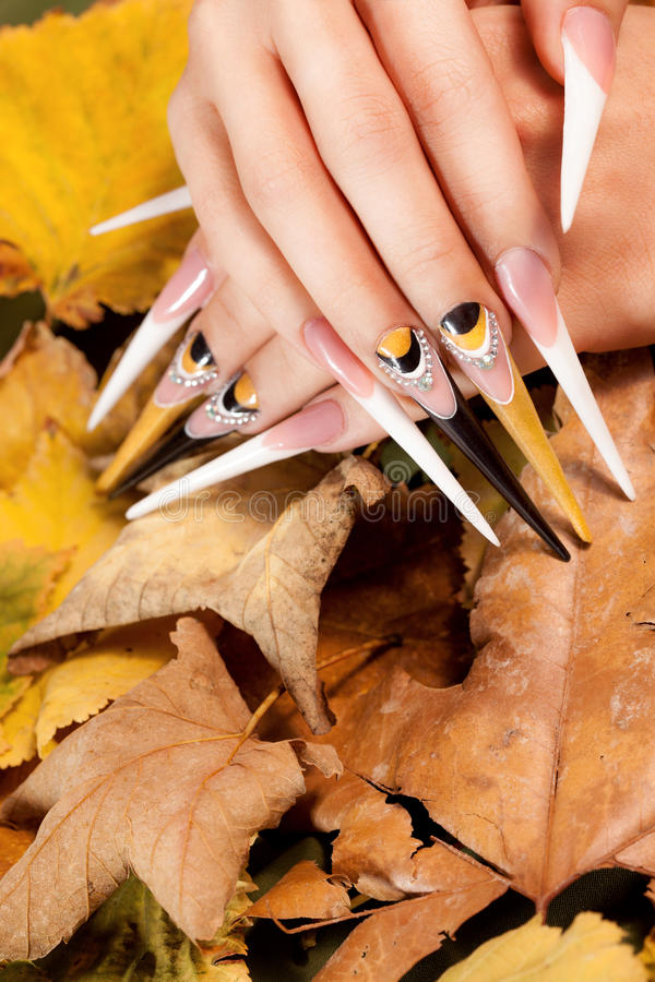 Extremely long nails stock image