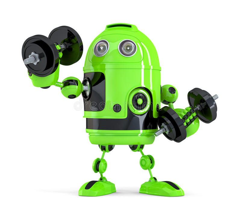 Extremely Powerfull Robot. Technology concept. . Contains clipping path.  vector illustration