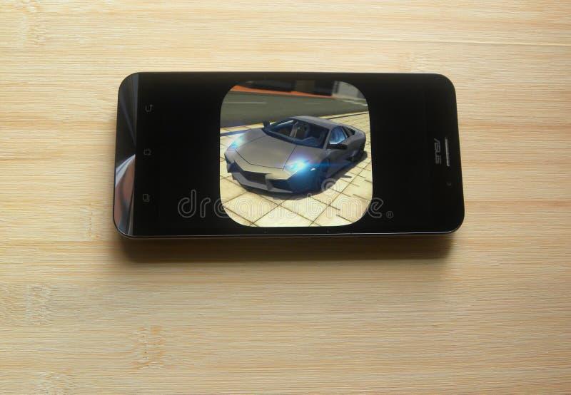 Extremer Auto-Fahrsimulator App lizenzfreie stockfotos