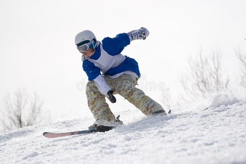 Extremer Skifahrer lizenzfreies stockbild