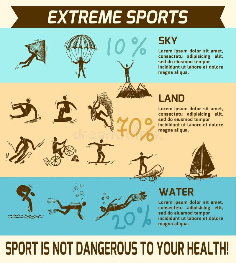 Extremer Sport infographic stock abbildung