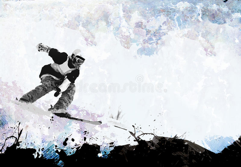 Extremer Winter-Sport-Plan stockbild