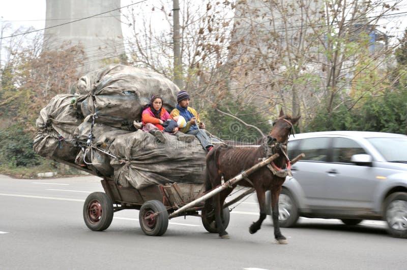 Extremes Armutkonzept in Rumänien lizenzfreie stockfotografie