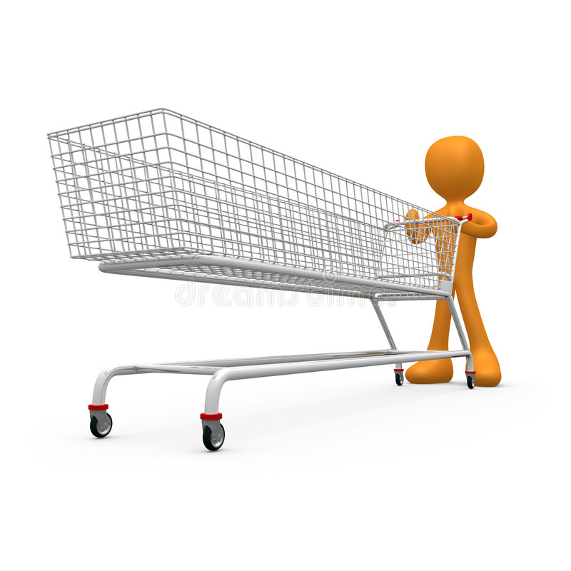 Extremes Einkaufen lizenzfreie abbildung