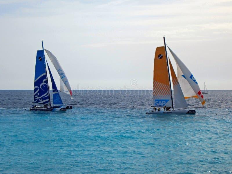 Extremes segelndes Rennen in Nizza, Frankreich stockfotografie