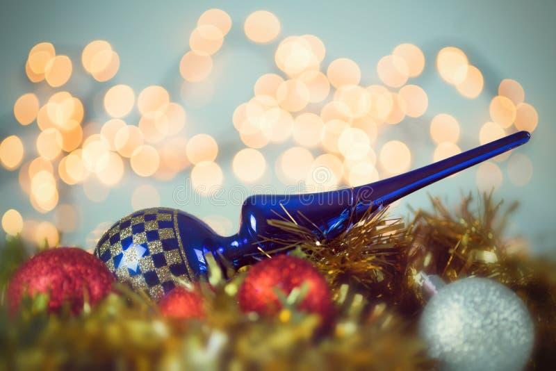 Extremidad del árbol de navidad del estilo del vintage imagen de archivo libre de regalías