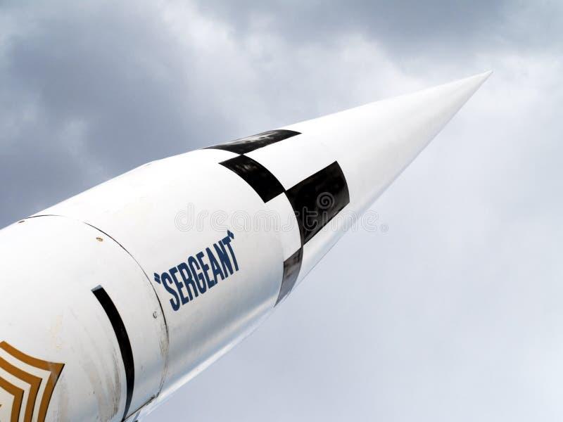 Extremidad del misil grande del exceso del Ejército del EE. UU. imagen de archivo