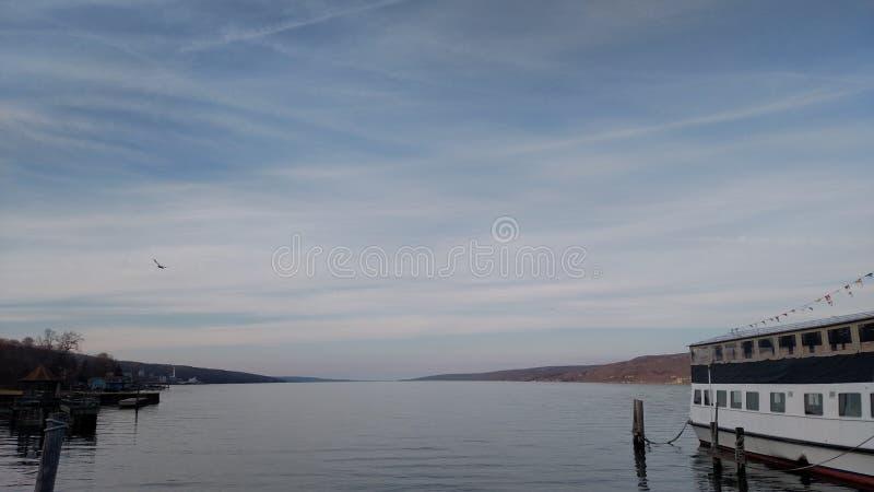 Extremidad meridional de Seneca Lake imagenes de archivo