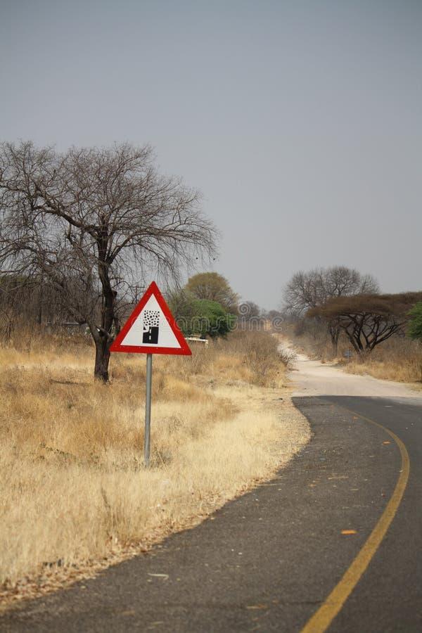 Extremidade da estrada em África fotos de stock
