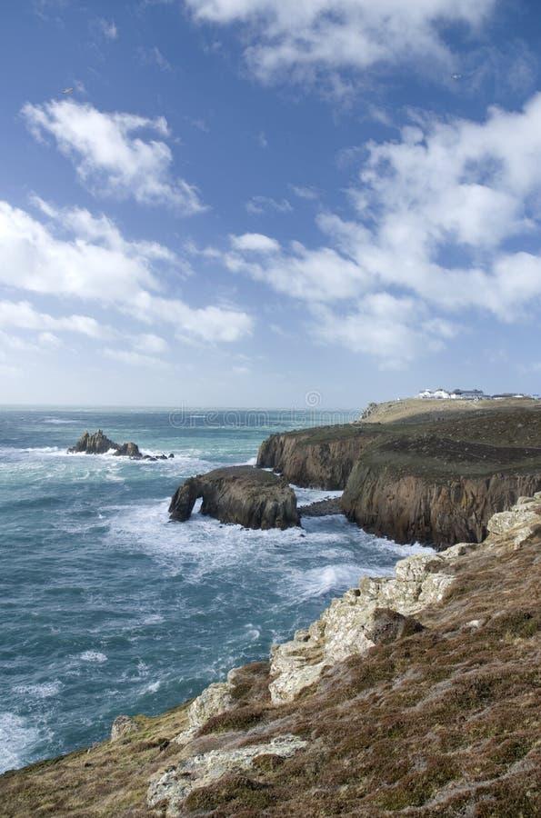 Extremidade da terra, Cornualha. Inglaterra fotos de stock