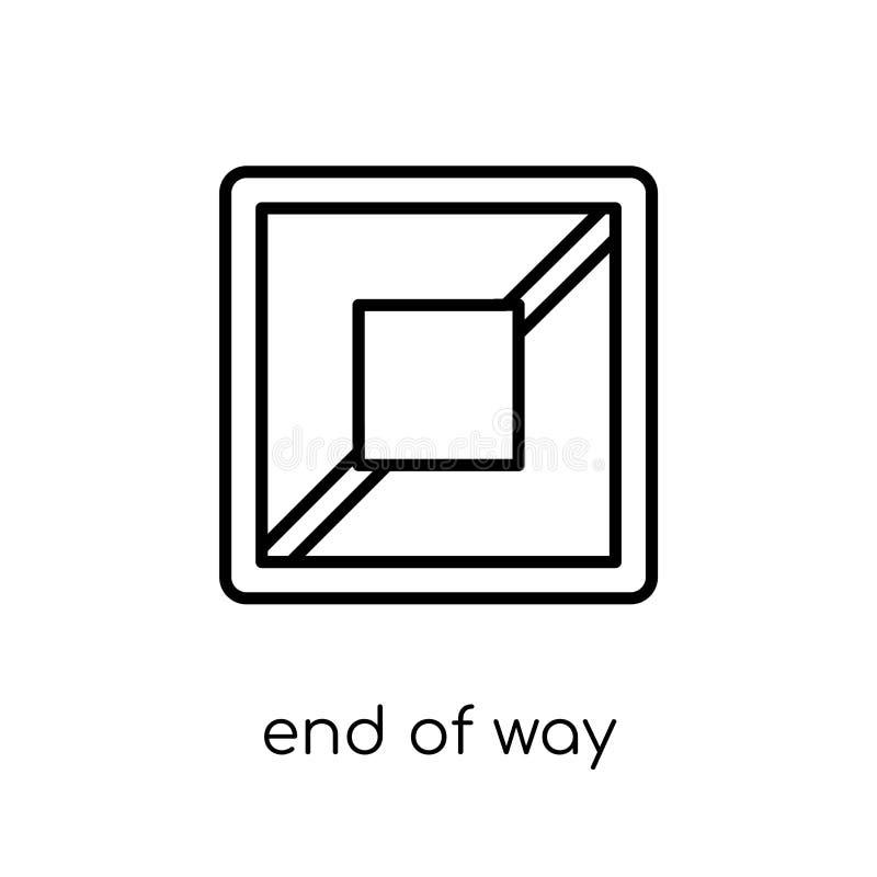 Extremidade do ícone do sinal da maneira Fim linear liso moderno na moda do vetor do wa ilustração royalty free