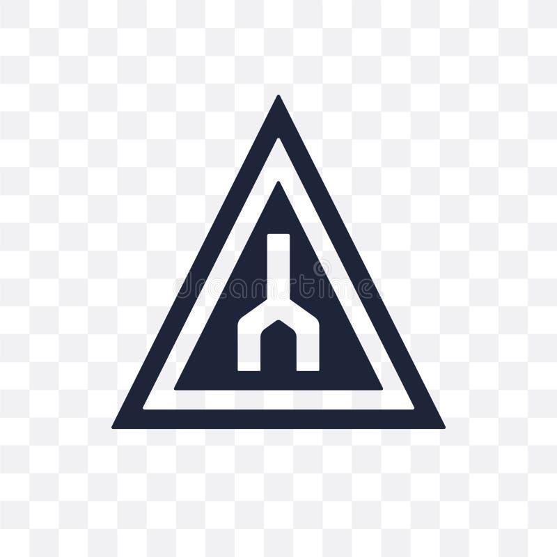 Extremidade do ícone transparente do sinal da maneira Fim do projeto do símbolo do sinal da maneira ilustração stock