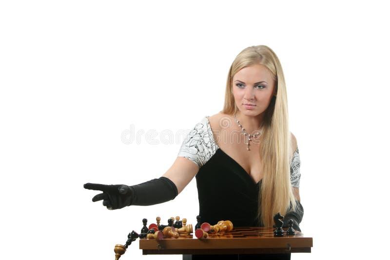 Download Extremidade Do Jogo Do Jogo De Xadrez Imagem de Stock - Imagem de forma, menina: 16861155