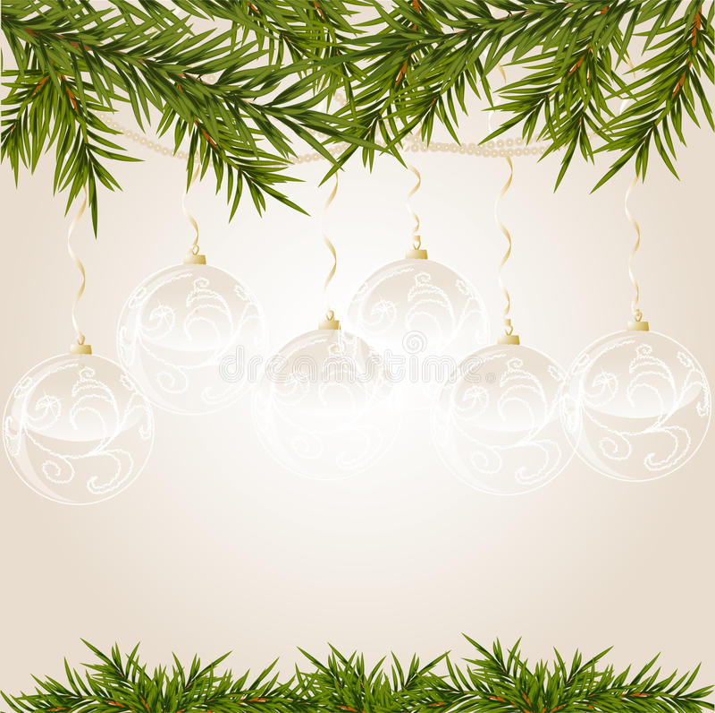 Extremidade do ouro com a esfera transparente do Natal imagem de stock
