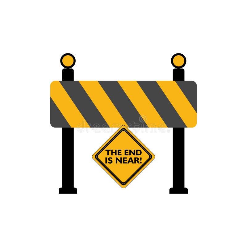 A extremidade está perto do sinal de estrada ilustração royalty free