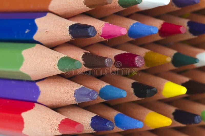 Extremidades de los lápices del color imagen de archivo libre de regalías