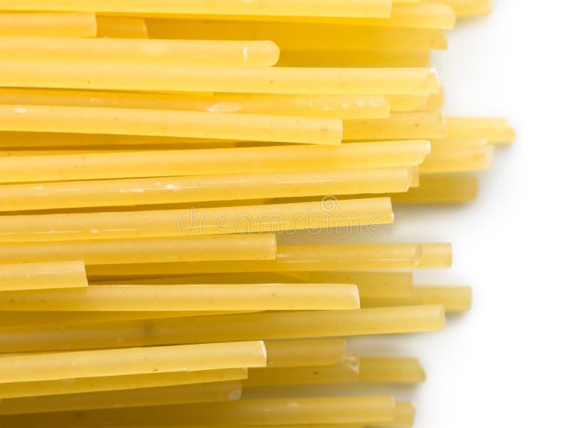 Extremidades do espaguete isoladas no branco imagem de stock