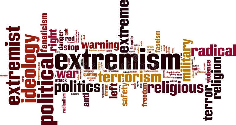 Extremism woordwolk royalty-vrije illustratie