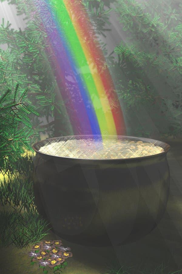 Extremo del arco iris foto de archivo libre de regalías
