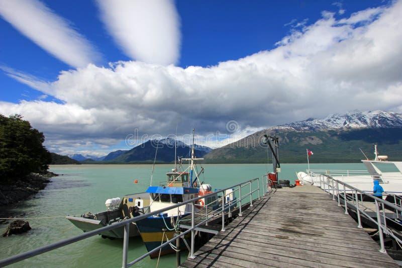 Extremo del chalet cercano austral O Higgins, Chile de Carretera imágenes de archivo libres de regalías