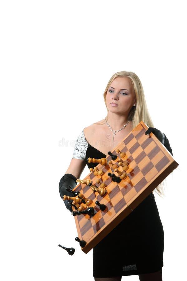 Extremo del conjunto del juego de ajedrez imagenes de archivo