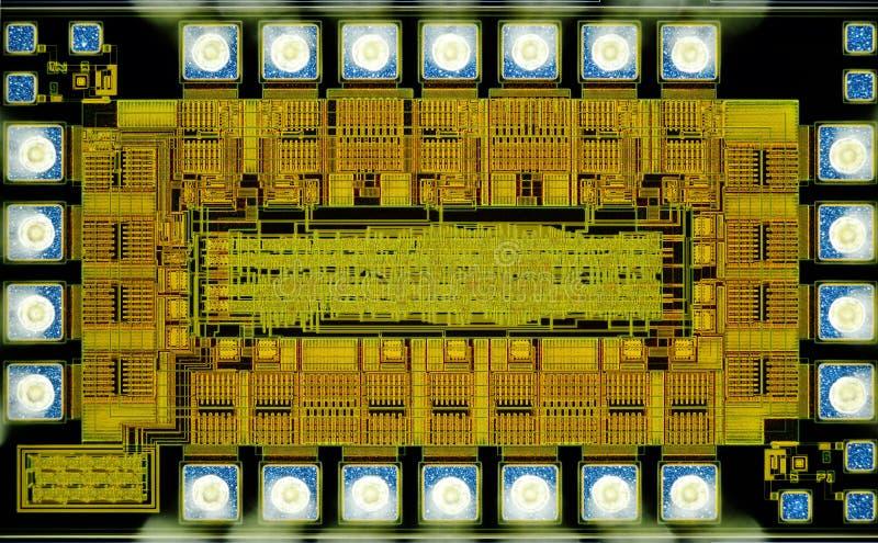Extremo próximo acima da micro microplaqueta do silicone imagem de stock royalty free