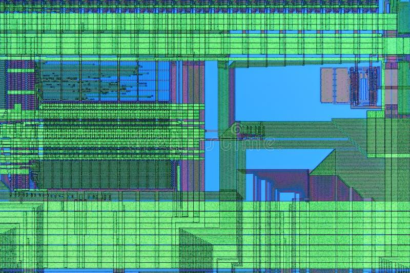 Extremo próximo acima da microplaqueta de microprocessador do silicone imagem de stock royalty free