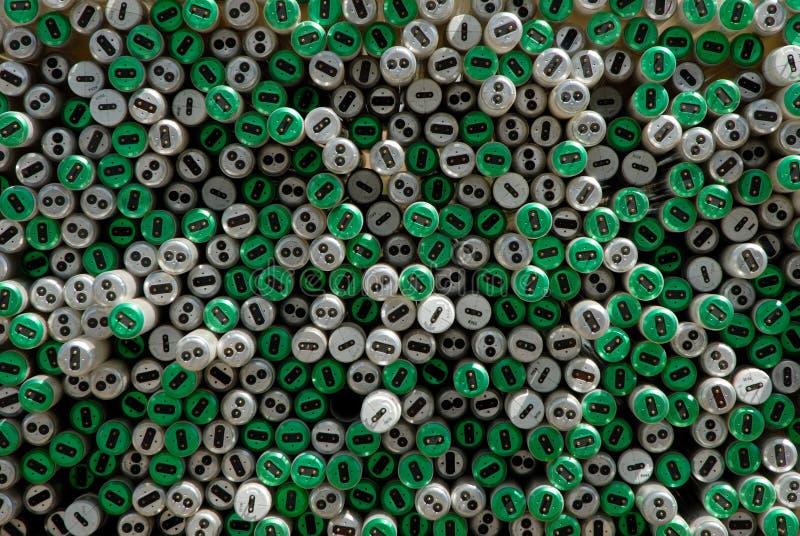Extremos del tubo de Flourecent foto de archivo libre de regalías