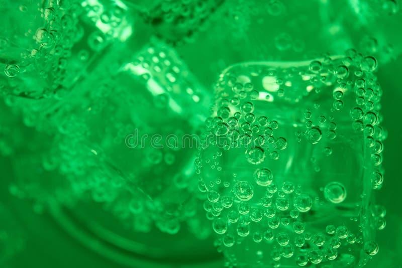 Extremt closeupmakroskott av kolsyrat vatten royaltyfria bilder