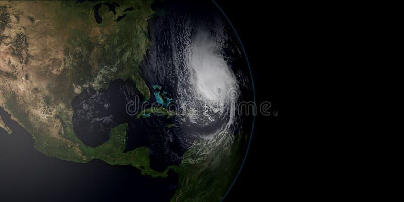 Extremt detaljerad och realistisk hög illustration för upplösning 3D av en orkan royaltyfri illustrationer