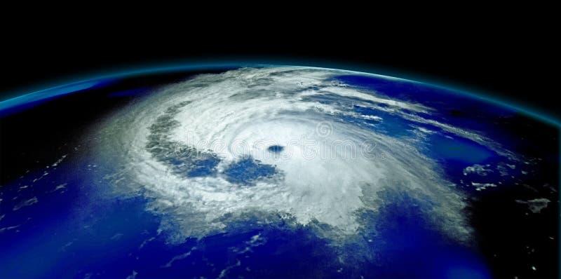 Extremt detaljerad och realistisk hög illustration för upplösning 3D av en orkan Skott från utrymme Beståndsdelar av denna bild ä royaltyfria foton