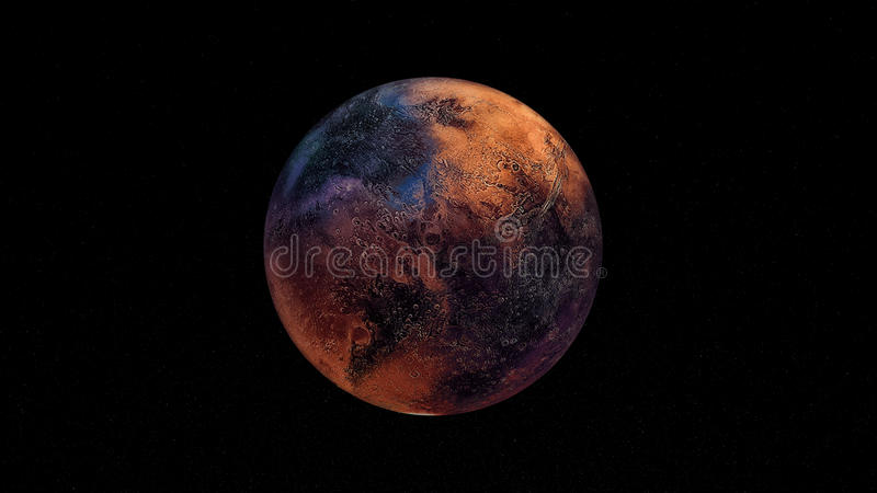 Extremt detaljerad och realistisk hög illustration för upplösning 3D en Exoplanet Skott från utrymme royaltyfri illustrationer