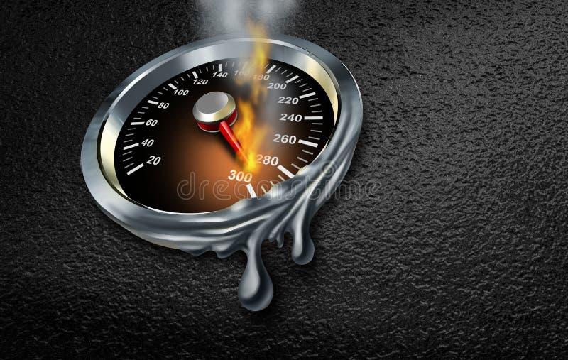 Extremt hastighetsbegrepp royaltyfri illustrationer