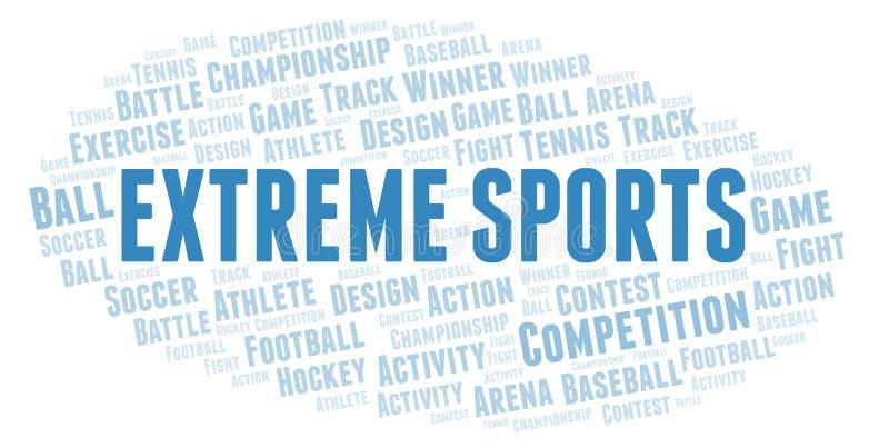 Extremt sportordmoln stock illustrationer