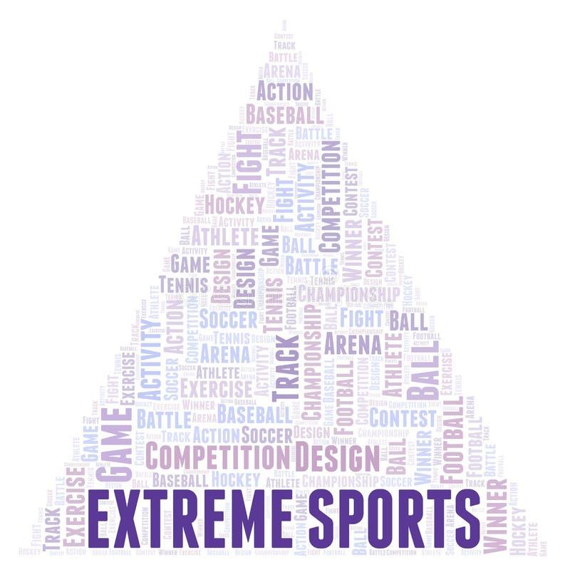 Extremt sportordmoln royaltyfri illustrationer