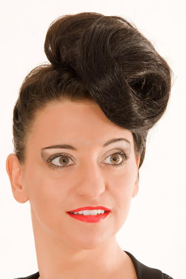 extremt trendig frisyr arkivfoto