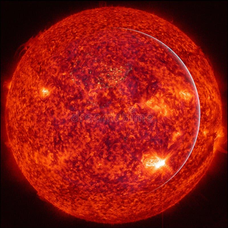 Extremt varm stjärna Vätskeplasma Best?ndsdelar av denna avbildar m?blerat av NASA royaltyfri illustrationer
