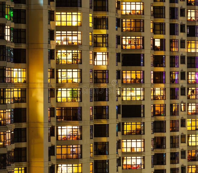 Extrior della costruzione di appartamento fotografia stock libera da diritti