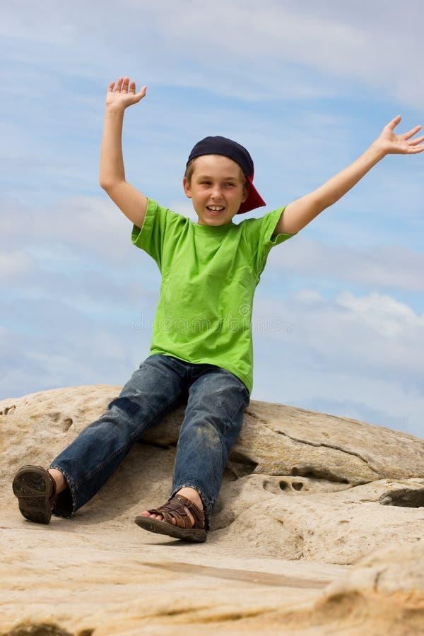 Free Extroverted Boy Stock Image - 804051