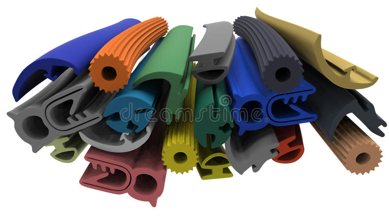 Extruded rubber profile (sealing) royalty free stock photo