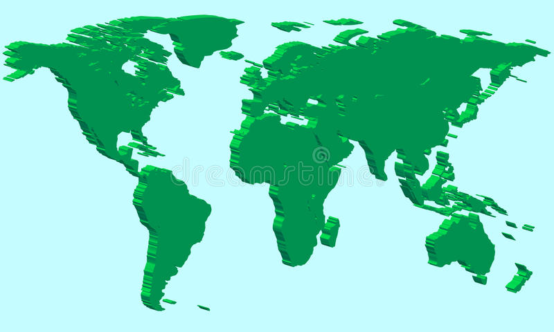 Extruded world map stock vector illustration of globalization download extruded world map stock vector illustration of globalization 34590109 gumiabroncs Gallery