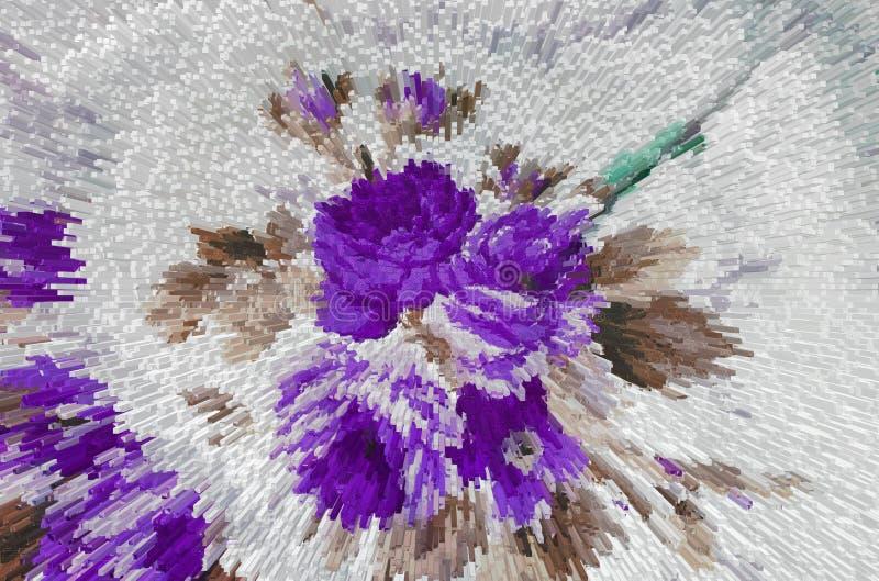Extrusão floral abstrata do fundo, textura ilustração do vetor